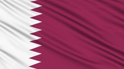 Qatar Flag, with real structure of a fabric
