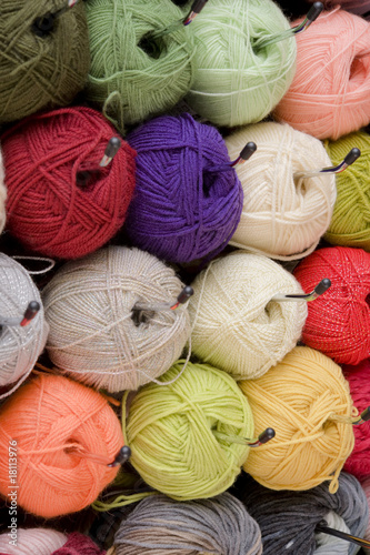 Colorful wools