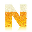 alphabet beer N