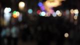 defocus people walking on the street at night / great generics 3 poster