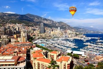 Aerial view of Monte-Carlo Monaco