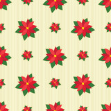 Red Poinsettia Seamless Tile