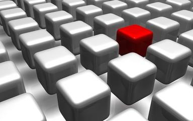 Konzept Erfolg, Innoavtion, Idee - 3D Bild
