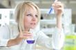 Closeup of a female researcher working in a lab