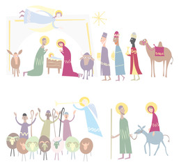 Vector Illustration Nativity Christmas