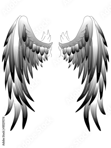 leinwanddruck bild haramis kalfar angelwings engelsfl gel tattoo art 1 wandbilder. Black Bedroom Furniture Sets. Home Design Ideas