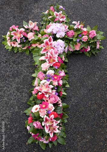 Spoed canvasdoek 2cm dik Gerbera croix funéraire