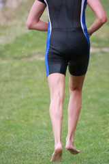 running triathlete