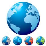 Fototapety multi globe