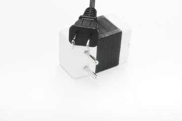 American type electric power plug and European adapter