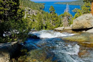 Waterfall by Emerald Bay, Lake Tahoe California
