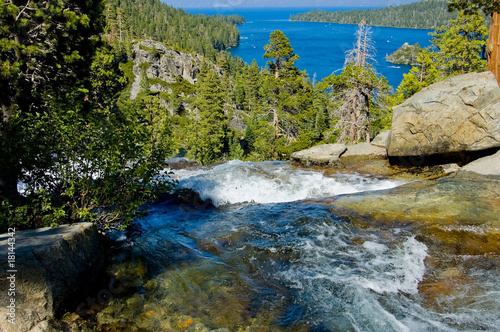Waterfall by Emerald Bay, Lake Tahoe California