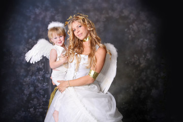 Little Angel with Mother