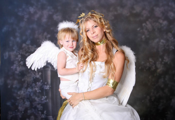 Mom and Son Angels