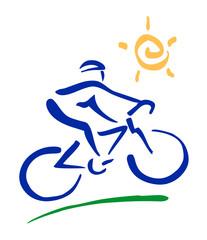 Ciclista stilizzato - Pennellate