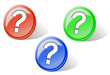 Set of glossy question buttons