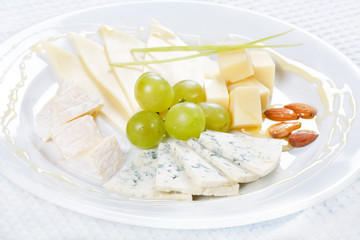 plate of cheese.