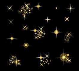 vektorset funkelnde sterne