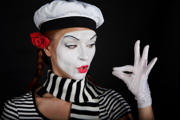 Portrait of a mime girl