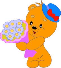 bear in hat