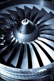jet engine turbine blades poster