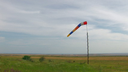 HD windsock moving from wind