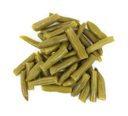 Cut and cooked canned green beans