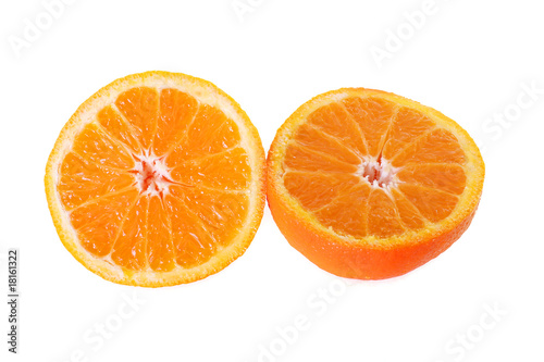 an orange sliced