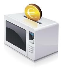 Investir en euros dans un four à micro-ondes (reflet)