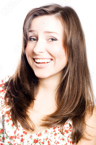 portrait of a smile beauty young woman