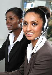 Asian helpdesk support operator