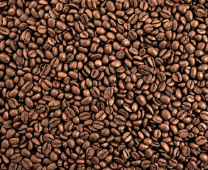 Coffee beans, background