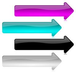 Frecce Vettoriali Colorate Glossy 2