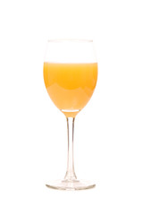 closeup photo of the glass with orange juice