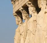 caryatids, acropolis, athens poster