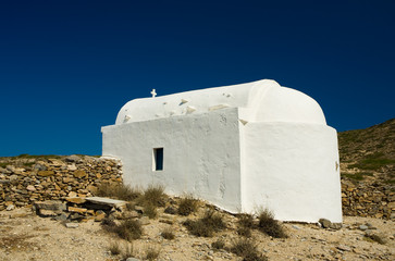 Chapel Agia Anna on Gramvoussa island, Greece