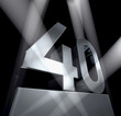 40 birthday celebration anniversary monument