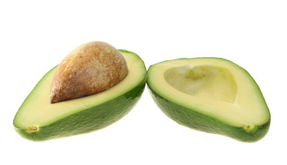 avocado, isolated.