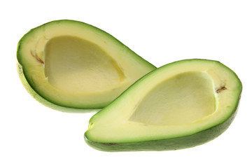 Green avocado, isolated.
