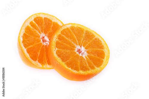 juicy orange sliced