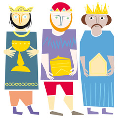 wisemen kings nativity vector illustration