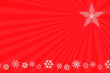 Fondo de navidad rojo con estrella