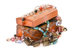 Wooden casket jewelery poster