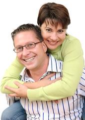 Portrait of a smiling couple having fun