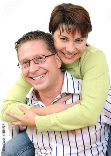 Portrait of a smiling couple having fun