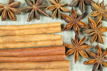 Aniseed and cinnamon