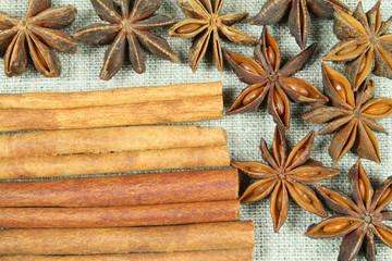 Aniseed and cinnamon
