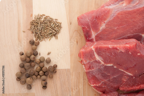 Raw meat and spice Poster