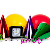 New years eve decorations poster