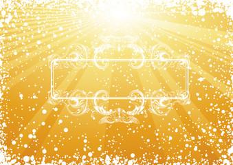 Golden Christmas Renaissance frame